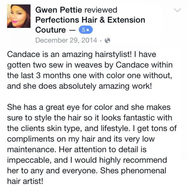 Perfections Hair & Extension Couture Review